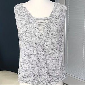 APT 9 Wrap Front Sleeveless Knit Top Blouse Medium